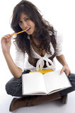 Estudante fêmea com livros Imagem de Stock Royalty Free