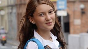 Estudante fêmea consideravelmente adolescente imagem de stock royalty free