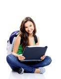 Estudante fêmea feliz imagem de stock
