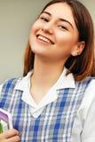 Estudante fêmea And Happiness da minoria Imagem de Stock Royalty Free