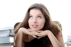 Estudante fêmea novo e bonito com livros imagem de stock royalty free