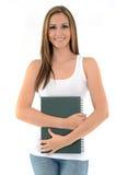 Estudante feliz com um caderno Imagem de Stock Royalty Free