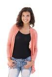 Estudante feliz que sorri na câmera Imagem de Stock Royalty Free