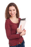 Estudante fêmea com livros Foto de Stock