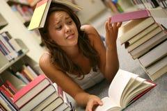 Estudante frustrante imagens de stock
