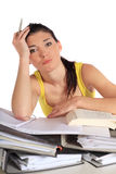 Estudante frustrante Fotos de Stock Royalty Free