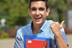 Estudante And Happiness do menino Imagens de Stock