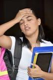 Estudante With Headache imagem de stock