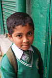 Estudante indiana no uniforme Fotografia de Stock