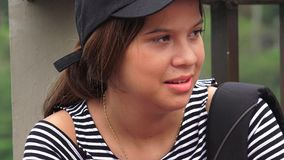 Estudante latino-americano fêmea novo imagem de stock