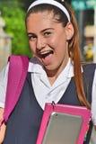 Estudante Laughing imagens de stock royalty free
