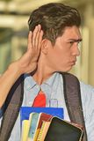 Estudante masculino Hearing imagens de stock