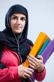 Estudante muçulmano antes da escola Fotografia de Stock Royalty Free