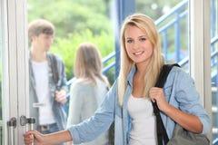 Estudante na escola foto de stock royalty free