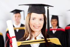 Estudante na graduação fotografia de stock royalty free