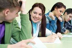 Estudante no exame Fotos de Stock Royalty Free