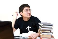 Estudante nos pensamentos Foto de Stock