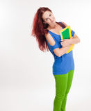 Estudante novo colorido engraçado. Imagens de Stock Royalty Free