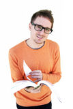 Estudante novo com livro aberto Foto de Stock