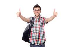 Estudante novo isolado Fotografia de Stock Royalty Free