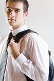 Estudante ou homem de negócios, levantando Foto de Stock