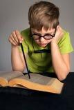 Estudante pequeno inteligente Foto de Stock Royalty Free