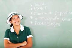 Estudante que aprende o francês Imagens de Stock Royalty Free
