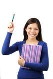 Estudante que levanta a mão Imagem de Stock Royalty Free
