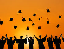 Estudante Success Concept da graduação da educação da celebração Fotos de Stock