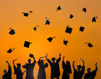 Estudante Success Learning Concept de CelebrationGraduation Fotos de Stock Royalty Free