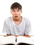 Estudante surpreendido e chocado Fotografia de Stock Royalty Free