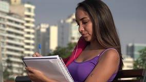 Estudante Teen Female Writing filme