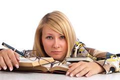 Estudante Tired imagens de stock