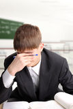 Estudante Tired Imagem de Stock