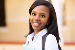 Estudante universitário afro-americana fotografia de stock