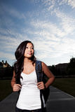 Estudante universitário asiático imagem de stock