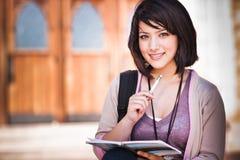 Estudante universitário da raça misturada Imagens de Stock Royalty Free