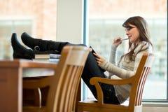 Estudante universitário da raça misturada Imagem de Stock