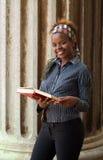 Estudante universitário do americano africano Imagem de Stock