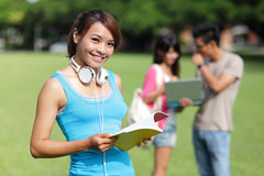 Estudante universitário feliz da menina Foto de Stock