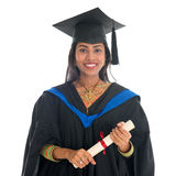 Estudante universitário indiana feliz Fotografia de Stock Royalty Free