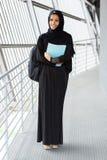 Estudante universitário muçulmana fotografia de stock