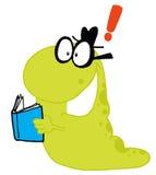 Estudante verde de ondulação do sem-fim que carreg um livro ilustração royalty free