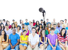 Estudante Waiting para a apresentação Fotografia de Stock