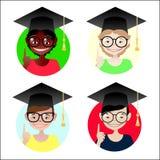 Estudantes ajustadas ilustração stock