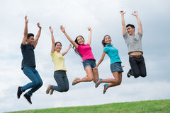 Estudantes alegres Fotos de Stock