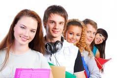Estudantes alinhados Fotos de Stock Royalty Free