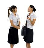 Estudantes asiáticos bonitos Imagem de Stock
