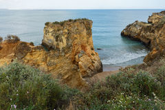 Estudantes beach in Lagos, Portugal Stock Photo