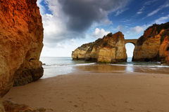 Estudantes beach in Lagos, Portugal Stock Images
